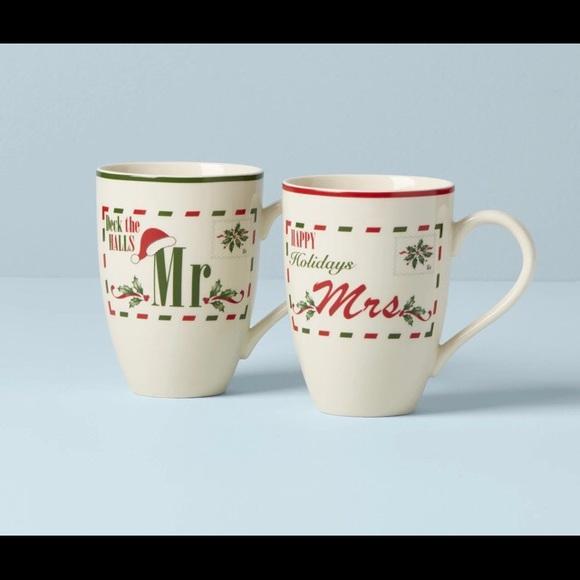 🆕 LENOX Holiday Mugs 🎄